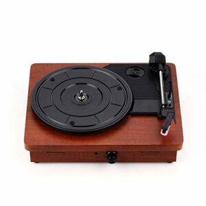 Platine Vinyle Portable Classique Gramophone Vinyle Player Antique Phonographe Antique Spectacle De Phonographe Simple pour Les Amateurs de Vinyle (Couleur : Marron, Size : 30x25x10cm)