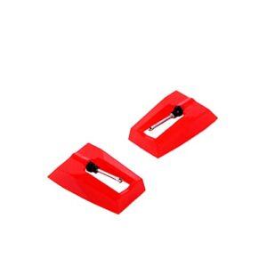Runtodo 12 PièCes SéRies Aiguille de Tourne-Disque, Aiguille Universelle de Platine D'Aiguille de Stylet de Remplacement pour la Plupart des Tourne-Disque Vinyle de Phonographe