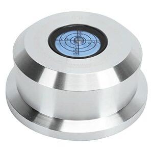 Stabilisateur de Poids Record, Pince de Stabilisateur de Disque 50 Hz avec Niveau à Bulle, pour Disque Vinyle, Alliage D'aluminium Non Magnétique de Haute Qualité, Faible Bruit(RT532S (Argent))