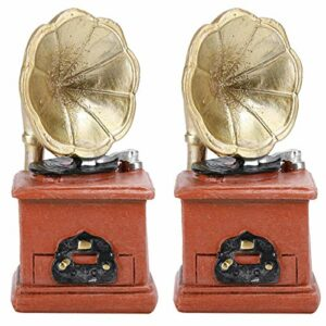 Yivibe Ornement de phonographe, décoration de phonographe en Corne, Mini Ornement de Bureau pour Accessoires de phonographe de Bureau à Domicile