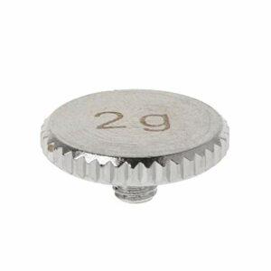 YOURPAI Contrepoids de la tête : 4 g – 2 g – Coque pour tourne-disque en métal – Pièces pour instruments électriques SL1200 SL1210 2 3 5 M5G Stylus DJ 12 x 6 x 1,5 mm