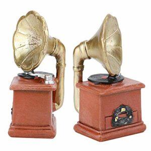 Gedourain Mini Ornement de phonographe à Corne, Mini phonographe à Corne rétro Artisanat Ancien Unique avec Un matériau en résine de Haute qualité pour la décoration de Magasin