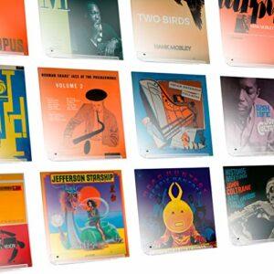 Hudson Hi-Fi Affichage Mural pour Disque Vinyle LP – Paquet de 12 – Affichez Votre écoute Quotidienne avec Style – Acrylique Transparent
