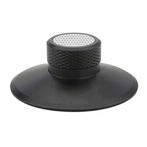 Mungowu Pince de Disque, Pince de Platine de Stabilisateur de Disque de Qualité Audiophile en Alliage D'Aluminium pour Disques Vinyle LP Suppression Noir