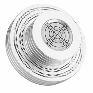 Pince de plateau tournant stabilisatrice de poids record, avec coussinet de base souple Durabilité 50 Hz/60 Hz Pinces de poids de platine vinyle deux couleurs Pince de disque vinyle pour(Argent)