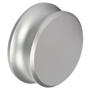 Pince de platine en aluminium, stabilisateur de poids pour platines d'enregistrement réduisant les vibrations inutiles avec un matériau en silicone pour l'enregistrement(Argent)