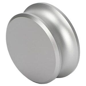 Stabilisateur de poids pour platines d'enregistrement, pince de platine en aluminium durable avec matériau en silicone pour l'enregistrement(Argent)