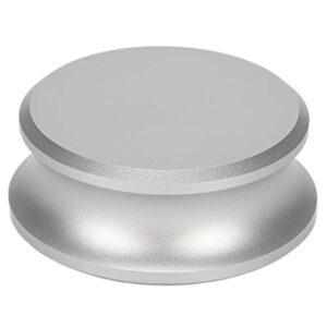 Stabilisateur de poids pour platines vinyles, pince pour platine vinyle en aluminium durable avec matériau en silicone pour enregistrer pour offrir aux amateurs(Argent)
