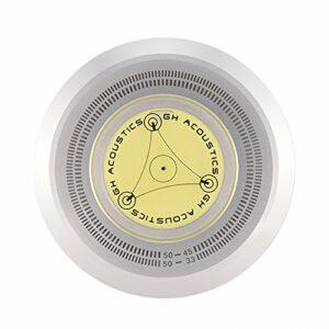 Stabilisateur d'enregistrement de disque, poids de niveau à bulle de niveau à bulle de haute précision pour le plateau tournant Moins de bruit pour maintenir le niveau horizontal du plateau(argent)