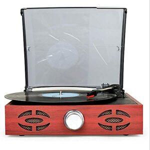 YAMMY Tourne-Disque, Tourne-Disque Disque Vinyle Phono 33/45/78 RPM Phonographe rétro Classique Moderne avec Haut-parleurs intégrés (phonographe)