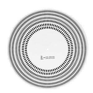 CCYLEZ Disque Stroboscopique D'étalonnage de Platine, Tachymètre Phono à Platine, Disque Stroboscope LP, Télémètre D'étalonnage, étalonnage de la Tête, 33/45/78 TR/Min pour Lecteur de Disque Vinyle