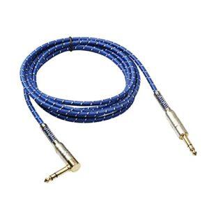 DDyna Câble Audio stéréo plaqué Or 6,35 mm mâle à mâle avec Zinc Tout
