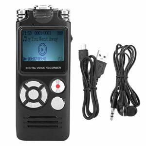WAQU Enregistreur Audio-8 Go Enregistreur Audio Portable Haute définition Enregistreur Vocal numérique Lecteur de Son à réduction de Bruit