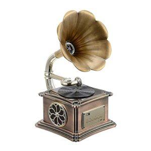 XXSHN Tourne-Disque, Fonction Bluetooth rétro de boîte à Musique Gramophone, Trompette de Platine Vinyle Vintage avec clé USB intégrée pour en (phonographe)