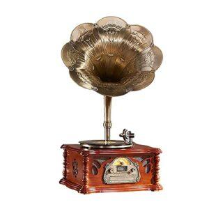 XXSHN Tourne-Disque, phonographe Gramophone Haut-Parleur Disque Vinyle rétro électro phonographe Salon de Style européen mobilier de Maison (phonographe)