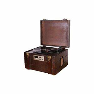 XXSHN Tourne-disques, Tourne-Disque à Courroie en Bois Naturel de Style Vintage avec Haut-parleurs stéréo (phonographe Vintage)