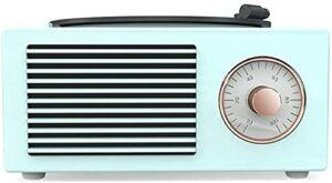 ZXYDD Ornements Mini haut-parleur Bluetooth en vinyle phonographe Home Mini carte stéréo rétro Rose Vert Blanc (couleur : rose) (couleur : vert)